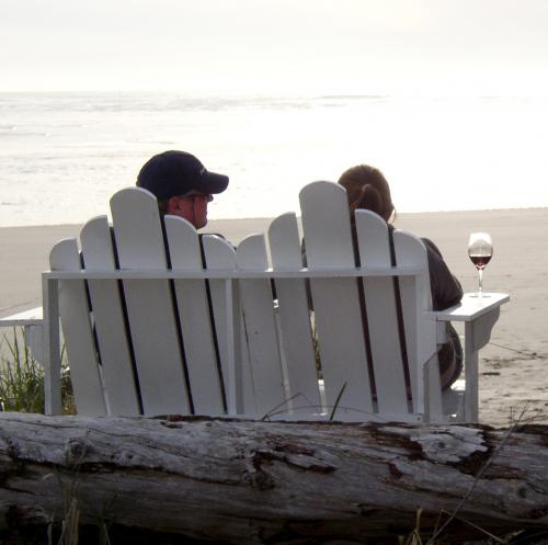 beach chair sunsets