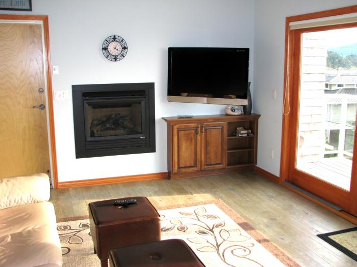 gas fireplace flat screen tv