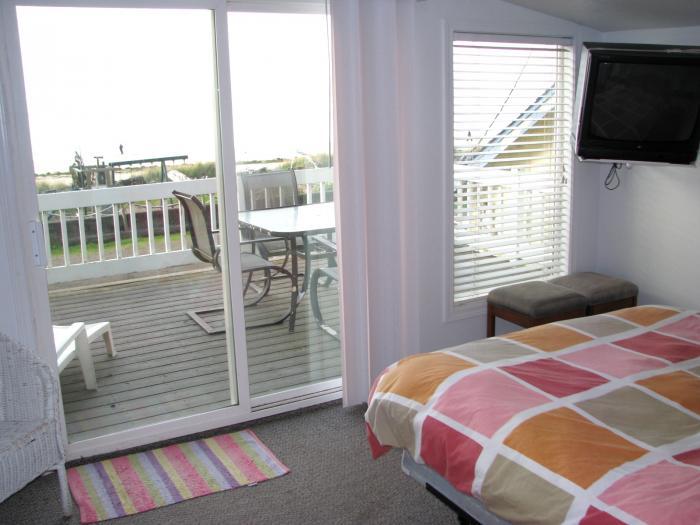 Homestead House deck view bedroom